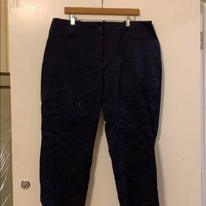 Navy Blue Talbots Women Crop Pants Size 18W